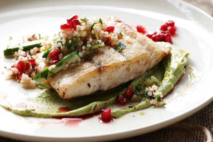 Sumac Spiced Barramundi With Quinoa Salad Recipe With Photo Step By Step How To Cook Fish And Seafood Wowfood Guru